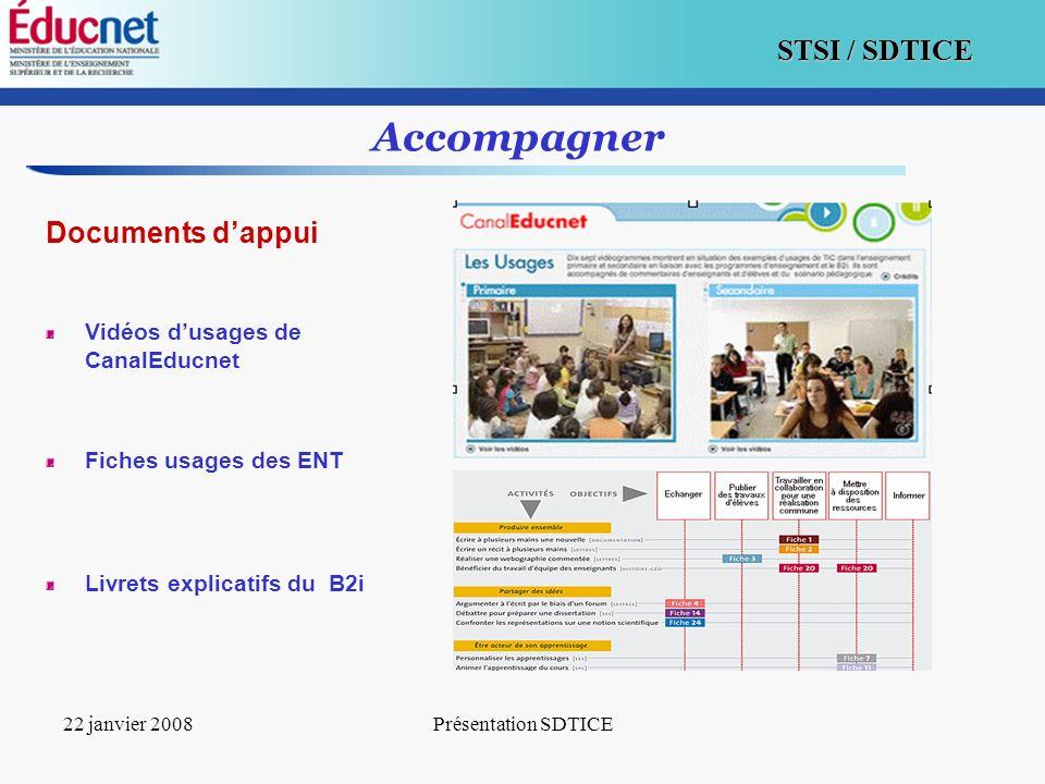 Accompagner Documents d'appui Vidéos d'usages de CanalEducnet