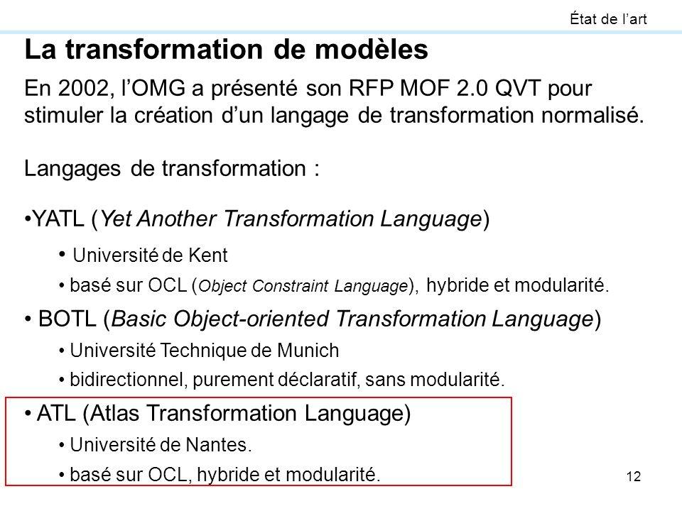 La transformation de modèles