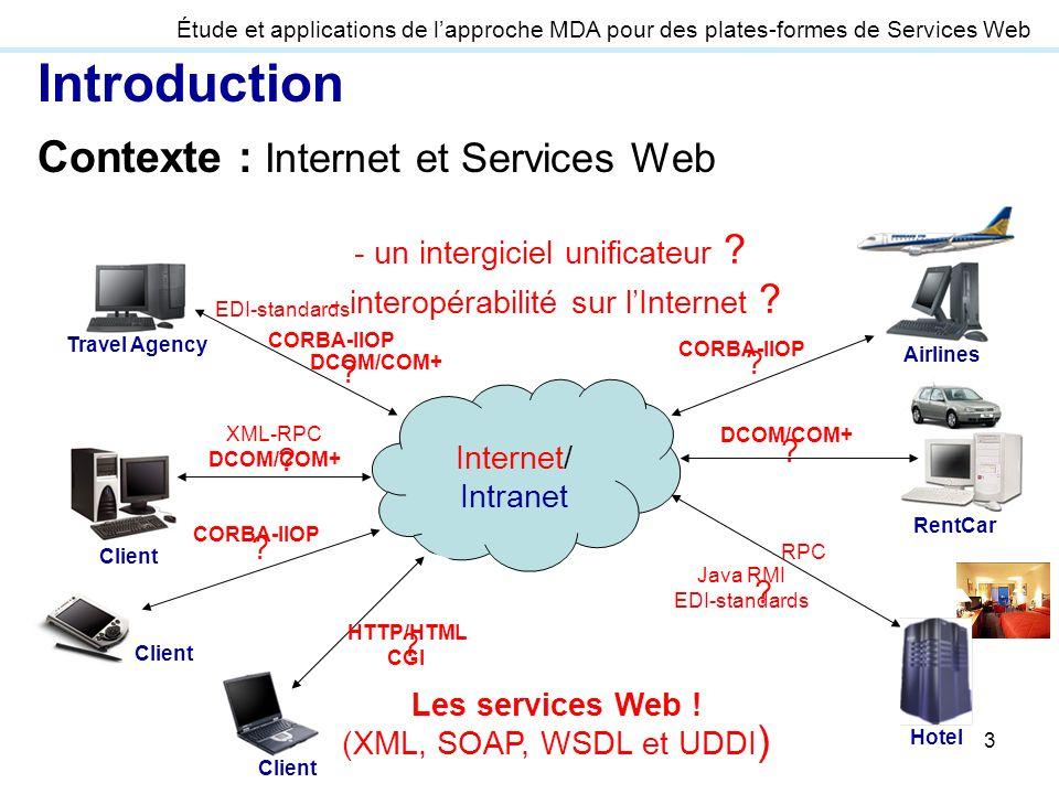 Introduction Contexte : Internet et Services Web