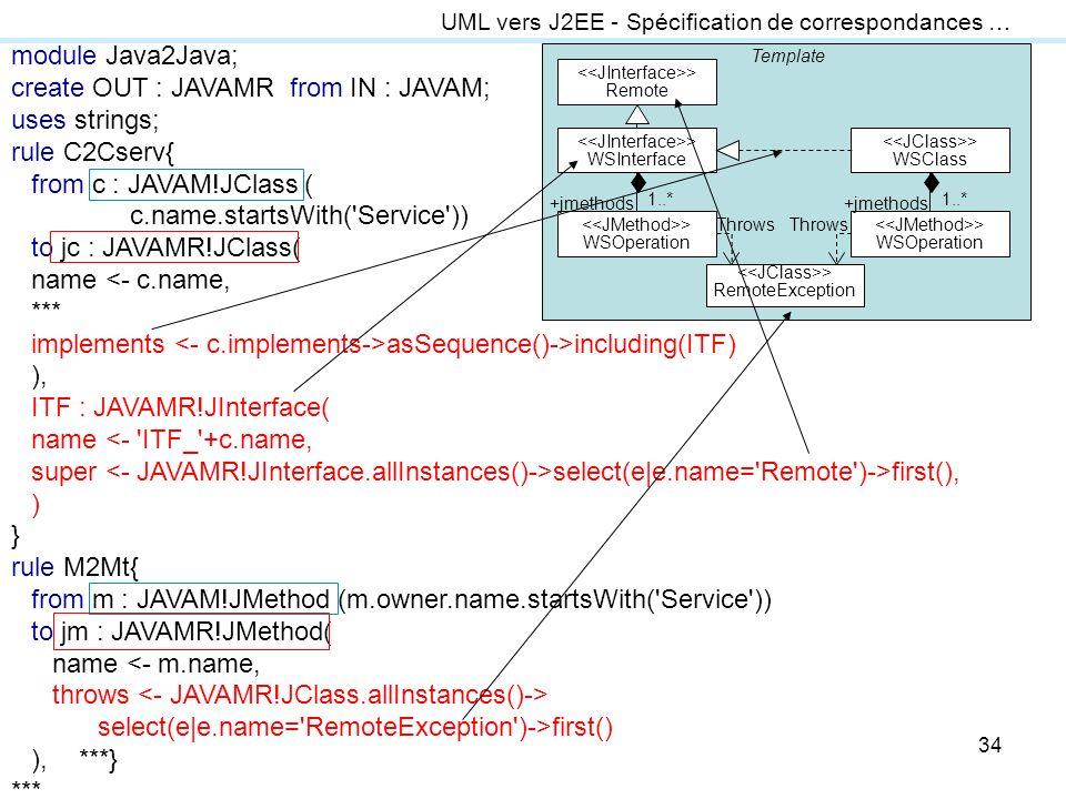 create OUT : JAVAMR from IN : JAVAM; uses strings; rule C2Cserv{