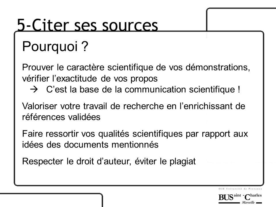 5-Citer ses sources Pourquoi