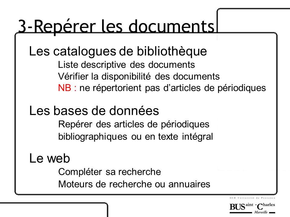 3-Repérer les documents