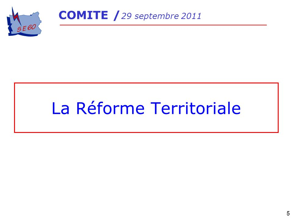 La Réforme Territoriale