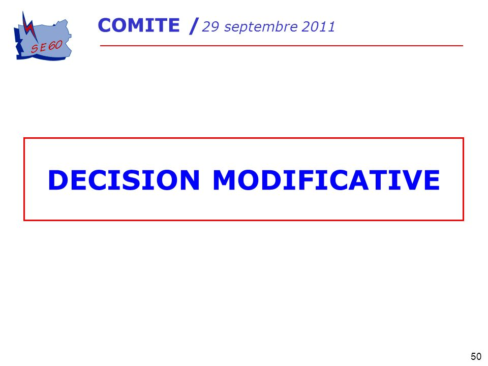 DECISION MODIFICATIVE
