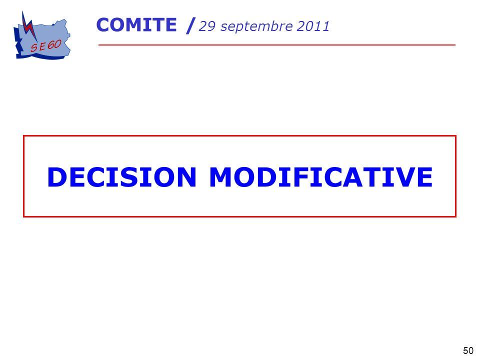 DECISION MODIFICATIVE