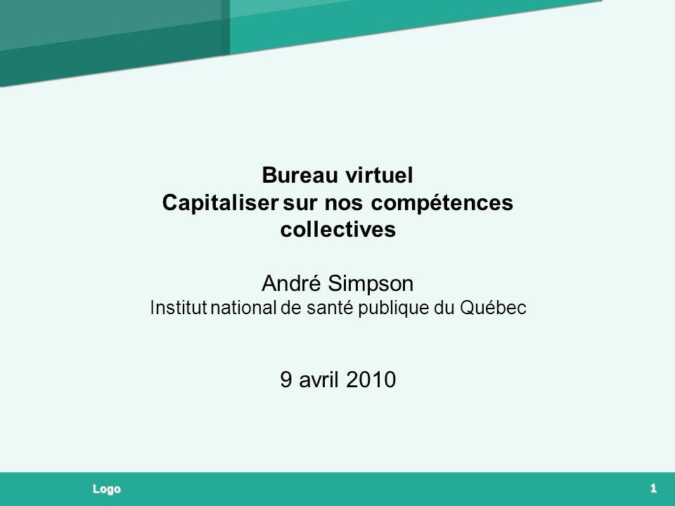 Bureau virtuel Capitaliser sur nos compétences collectives André Simpson Institut national de santé publique du Québec