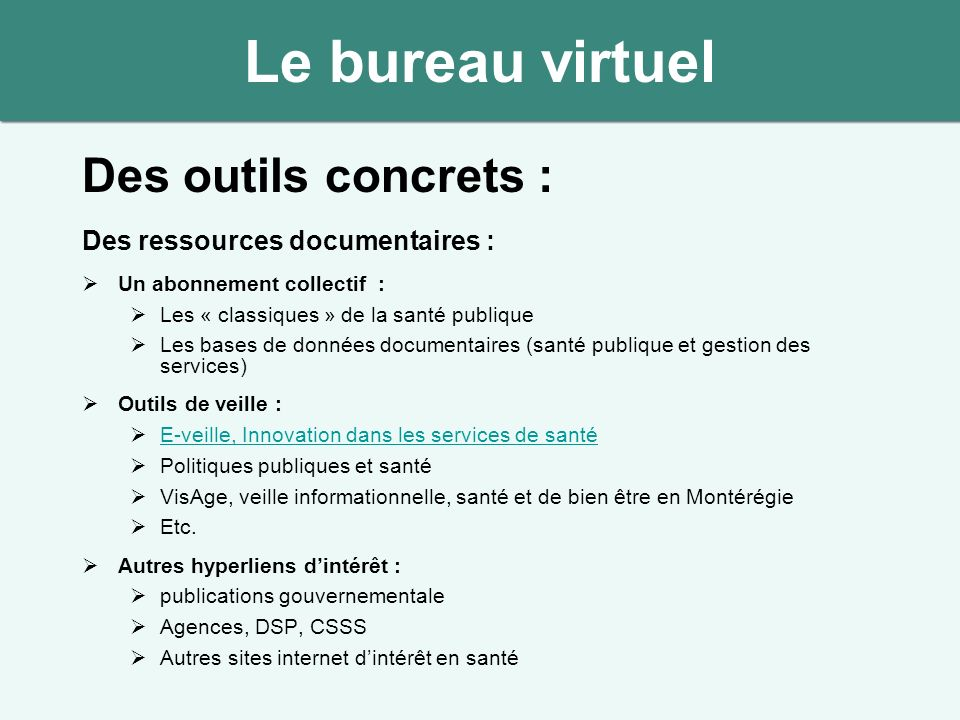 bureau virtuel capitaliser sur nos comp 233 tences collectives andr 233 institut national de