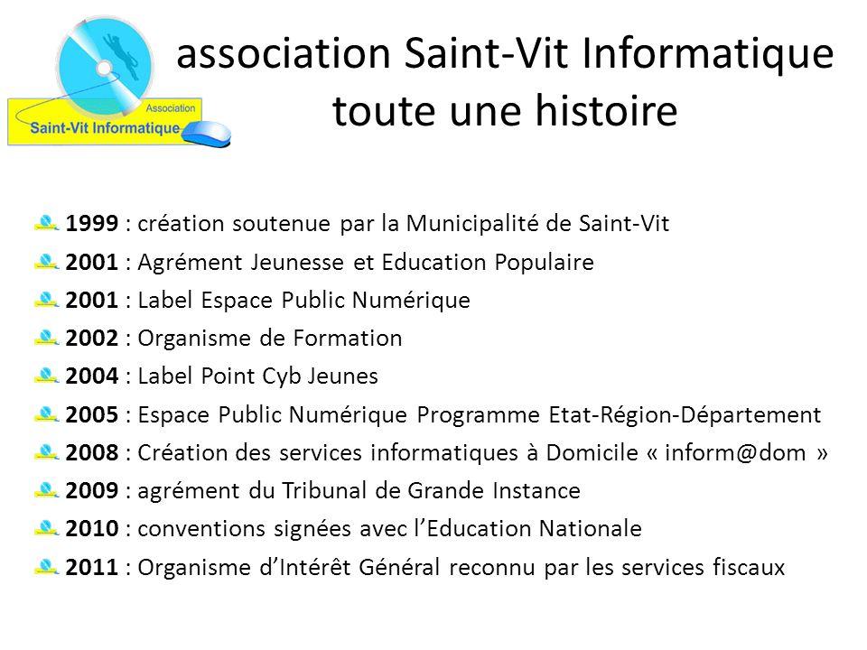 association Saint-Vit Informatique toute une histoire