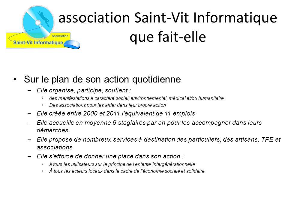 association Saint-Vit Informatique que fait-elle