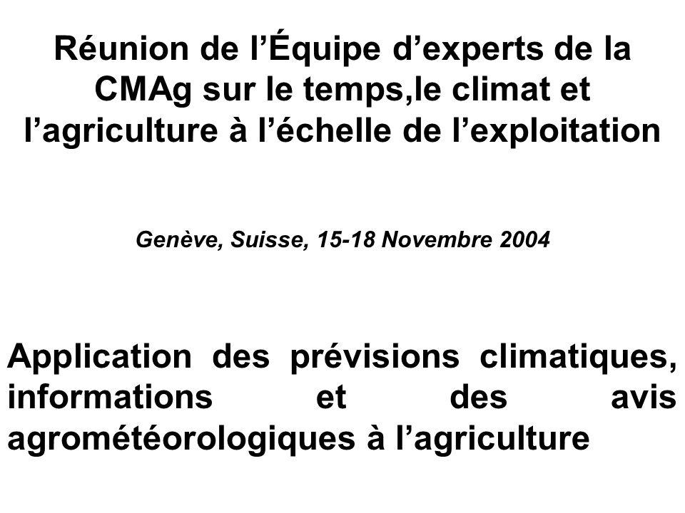 Genève, Suisse, 15-18 Novembre 2004