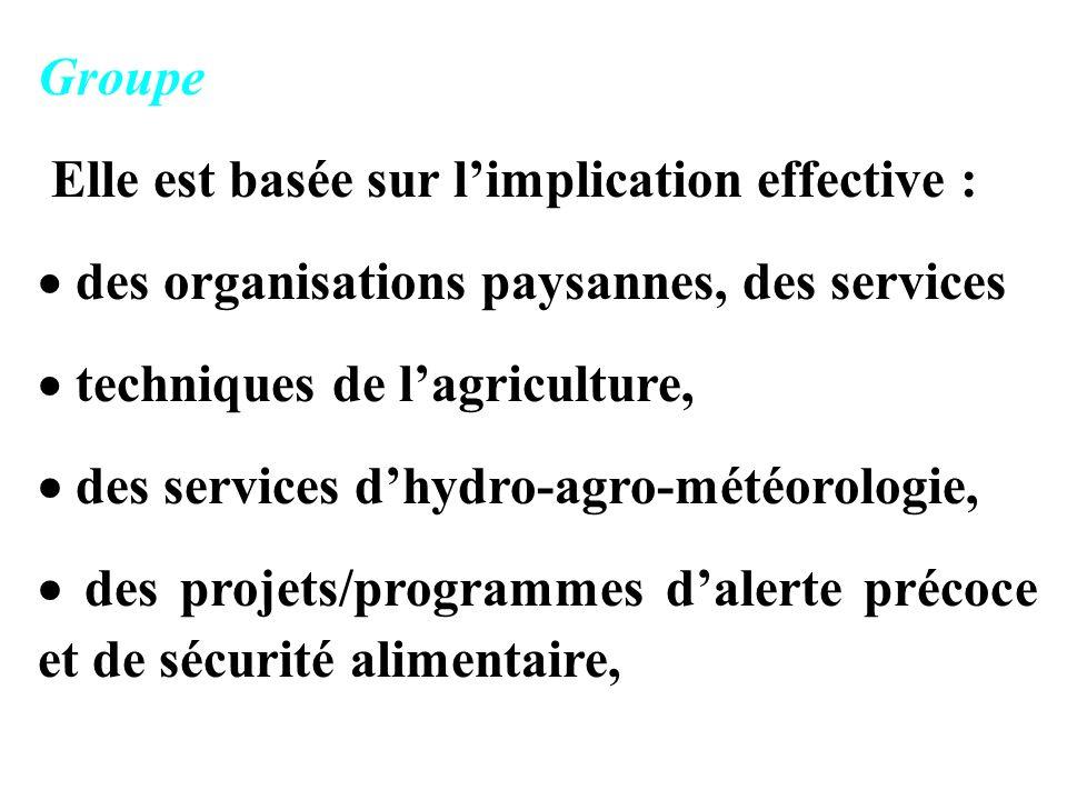 Groupe Elle est basée sur l'implication effective : des organisations paysannes, des services. techniques de l'agriculture,