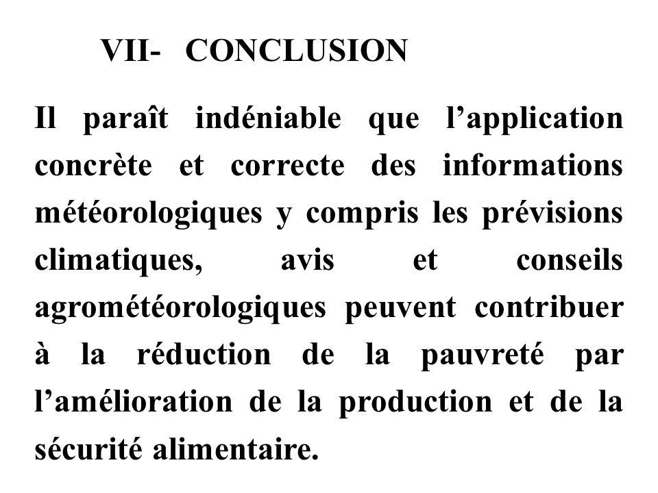 VII- CONCLUSION