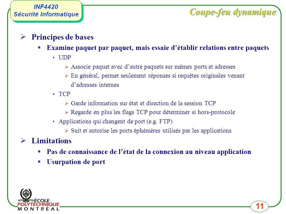 Coupe-feu dynamique Principes de bases Limitations