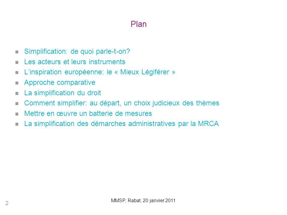Plan Simplification: de quoi parle-t-on