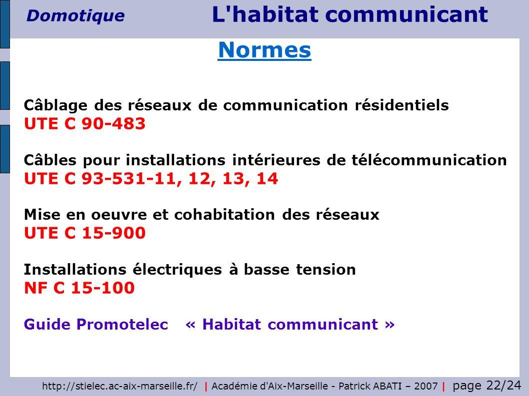 Normes UTE C 90-483 UTE C 93-531-11, 12, 13, 14 UTE C 15-900