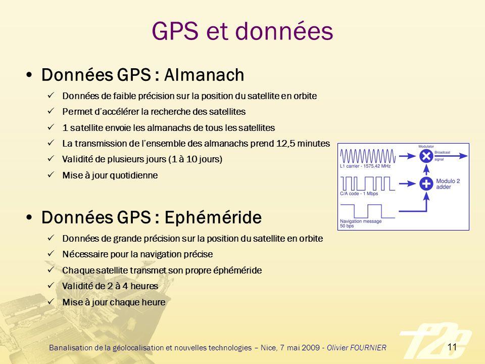 GPS et données Données GPS : Almanach Données GPS : Ephéméride