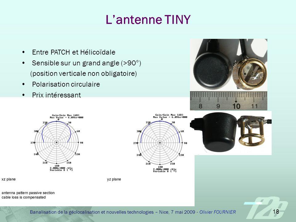 L'antenne TINY Entre PATCH et Hélicoïdale
