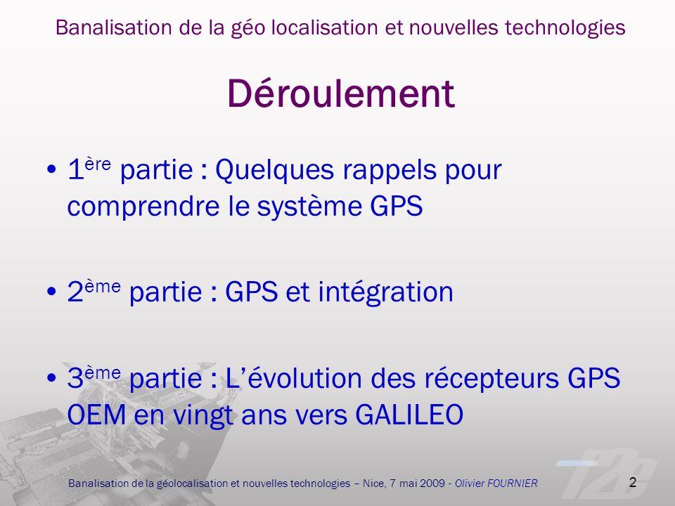 1ère partie : Quelques rappels pour comprendre le système GPS