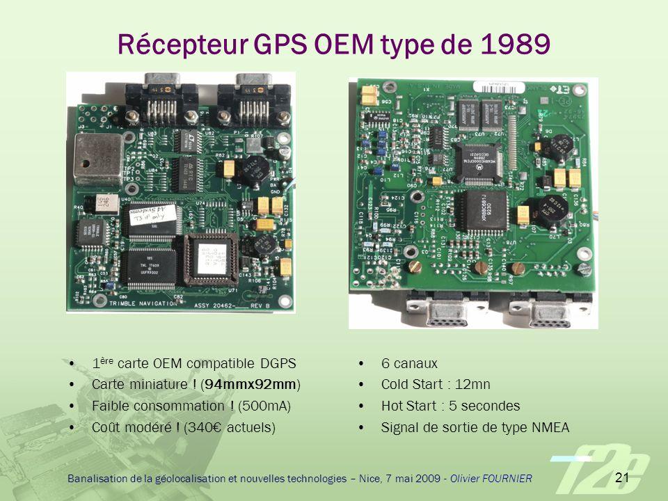 Récepteur GPS OEM type de 1989