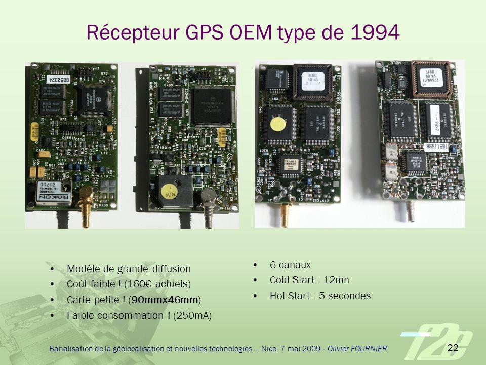 Récepteur GPS OEM type de 1994