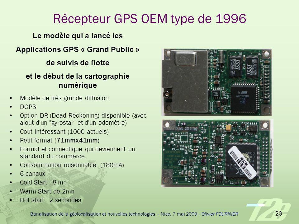 Récepteur GPS OEM type de 1996