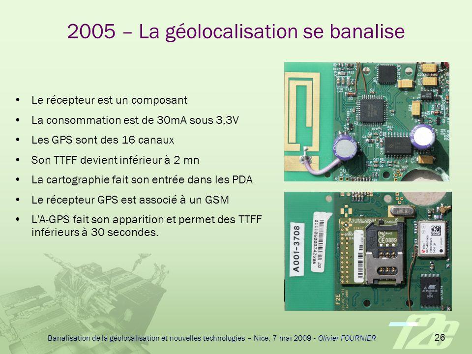 2005 – La géolocalisation se banalise