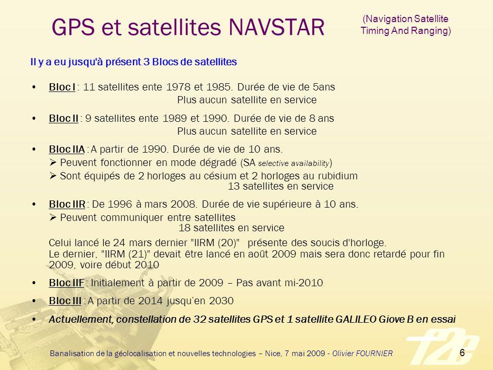 GPS et satellites NAVSTAR