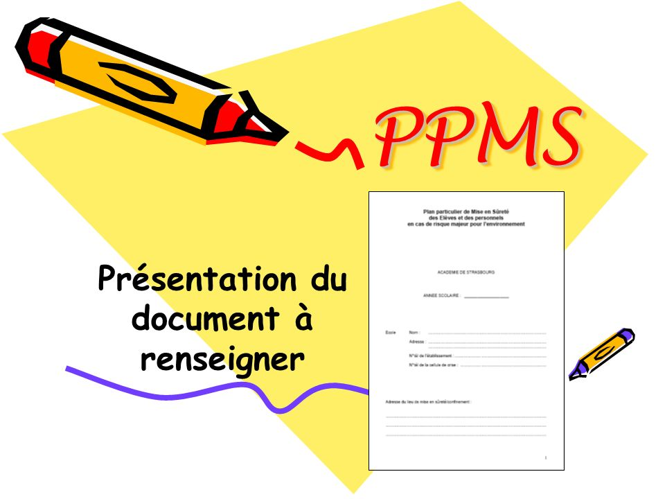 Présentation du document à renseigner