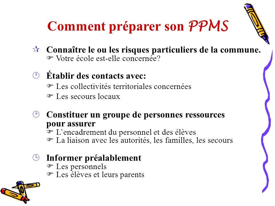 Comment préparer son PPMS
