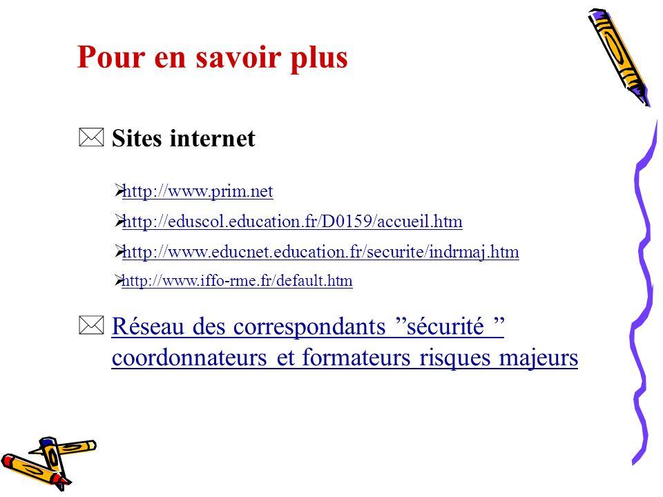 Pour en savoir plus Sites internet
