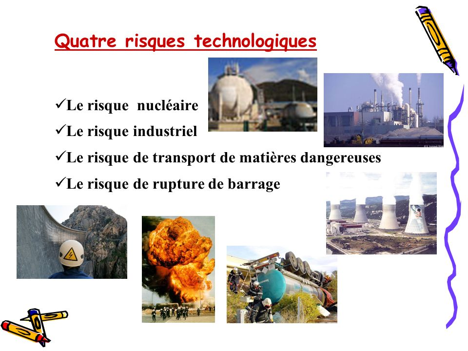 Quatre risques technologiques