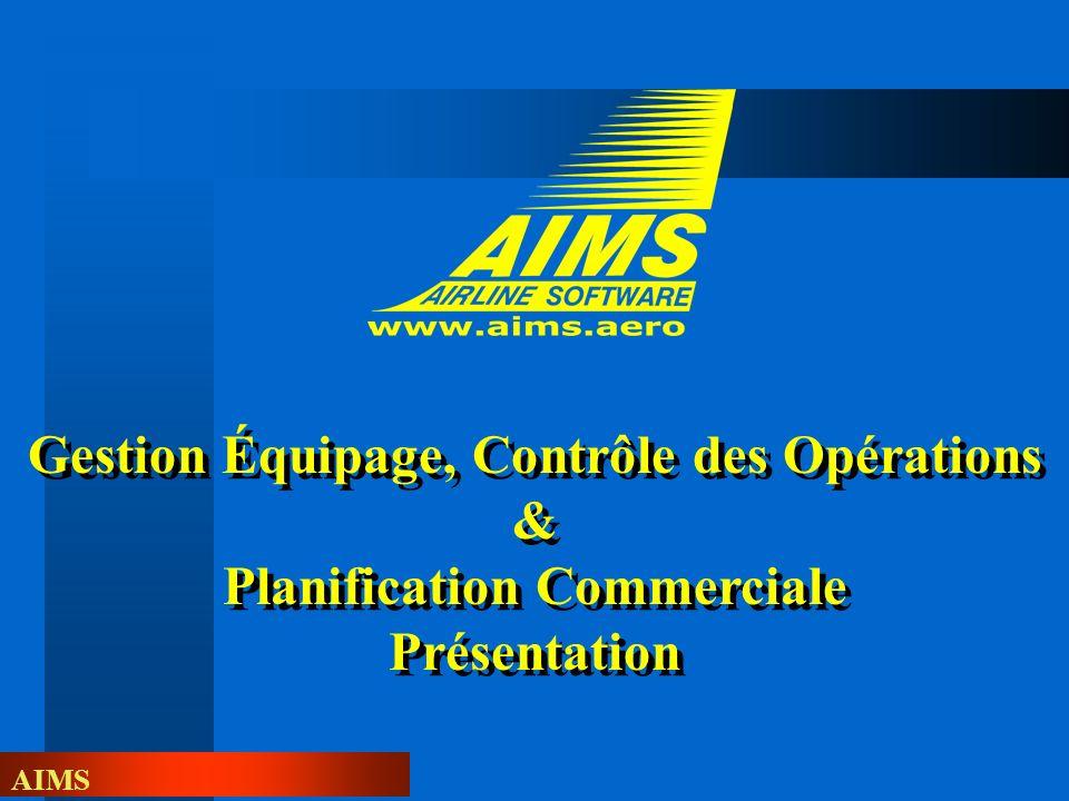 Gestion Équipage, Contrôle des Opérations & Planification Commerciale