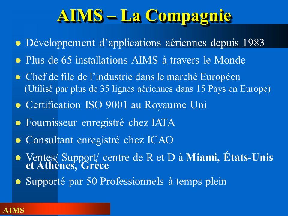 AIMS – La Compagnie Développement d'applications aériennes depuis 1983