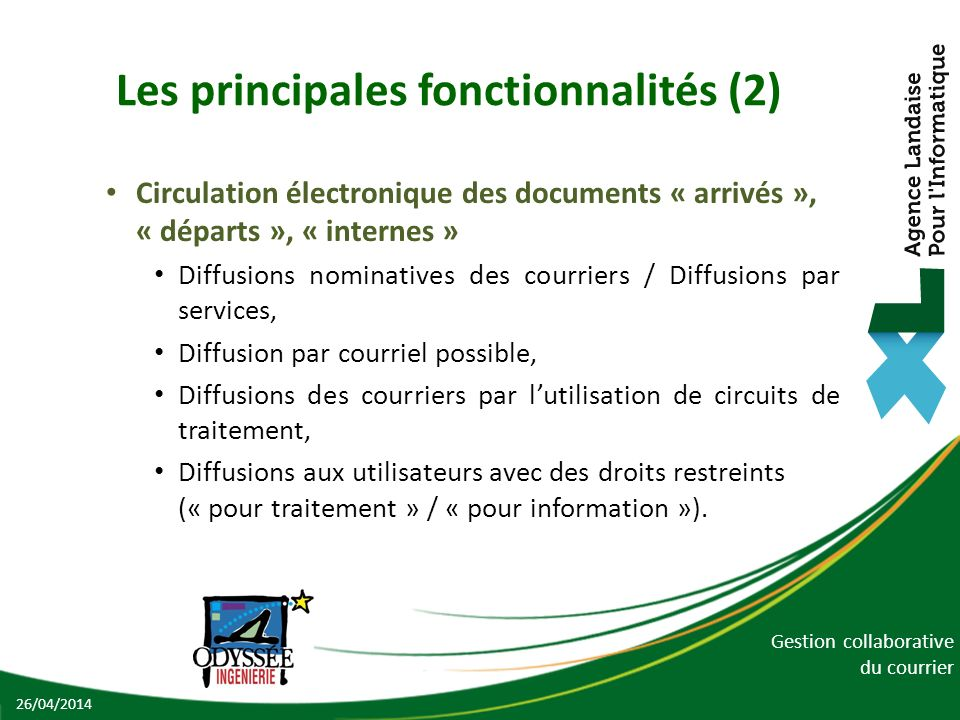 Les principales fonctionnalités (2)