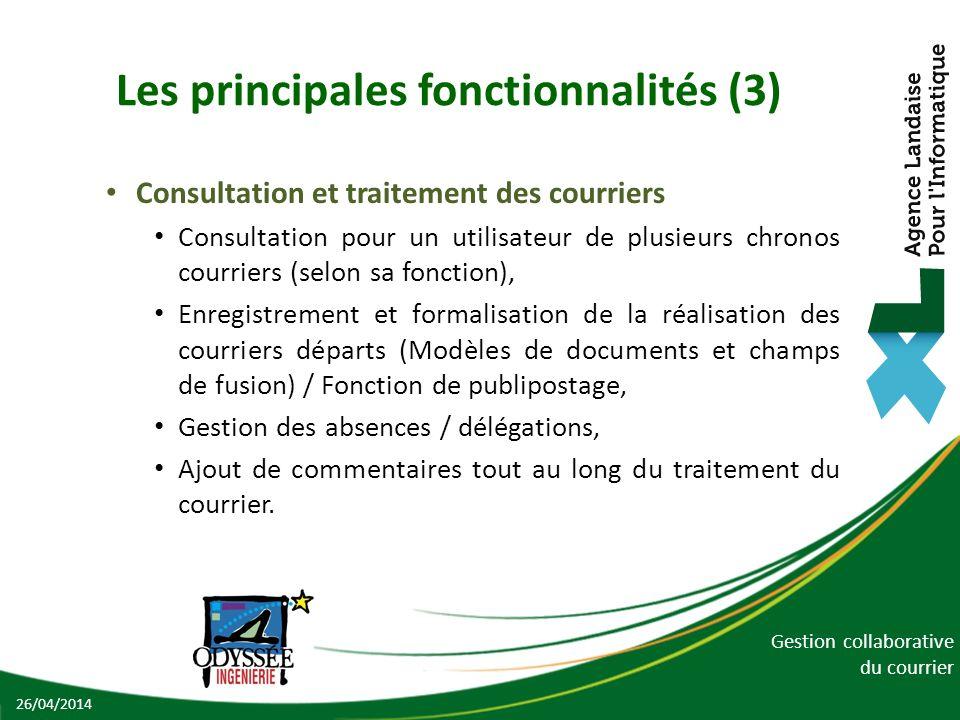 Les principales fonctionnalités (3)