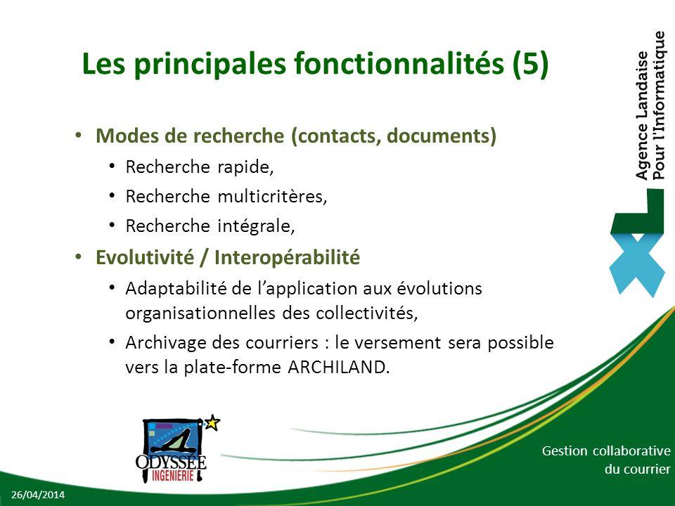 Les principales fonctionnalités (5)