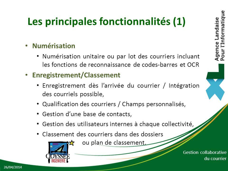 Les principales fonctionnalités (1)