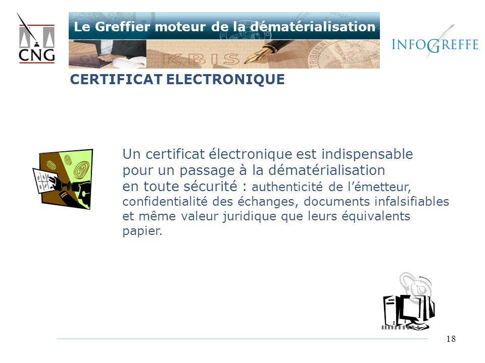 CERTIFICAT ELECTRONIQUE