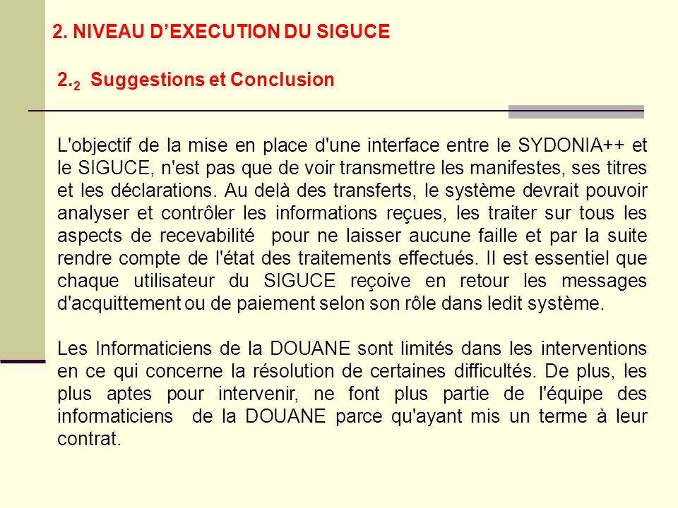 2.2 Suggestions et Conclusion