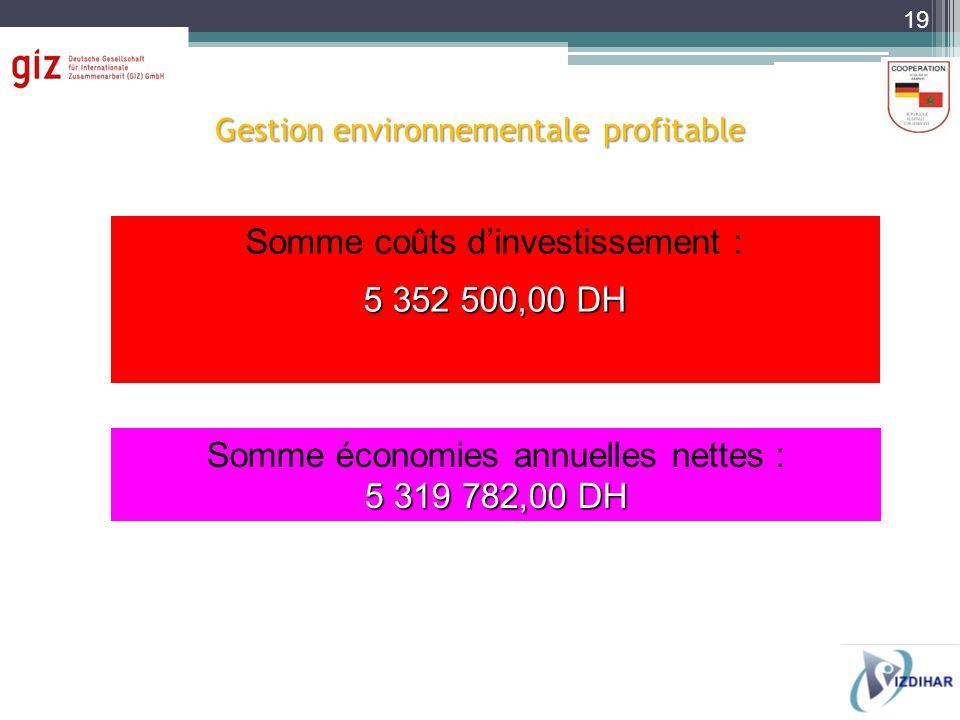 Gestion environnementale profitable
