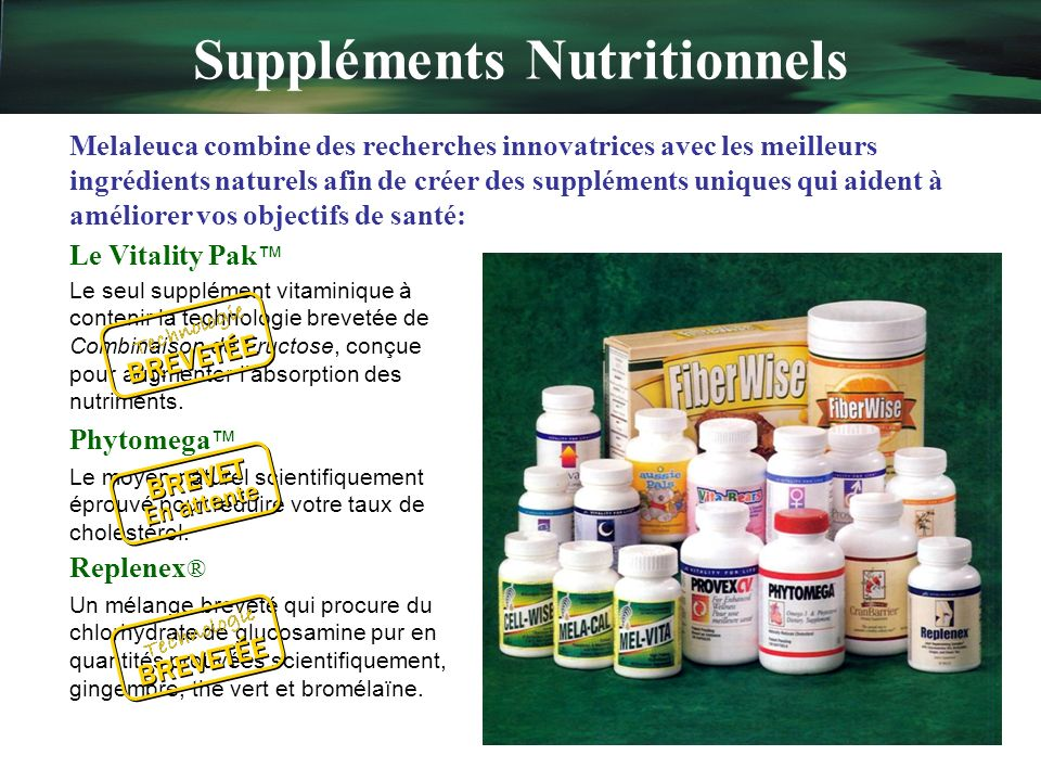Suppléments Nutritionnels