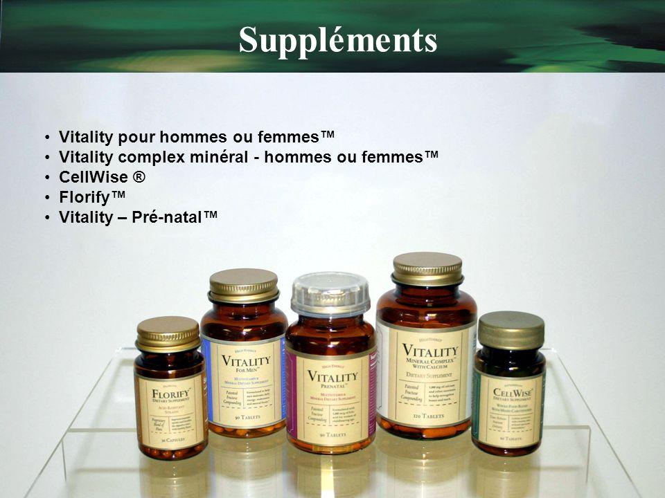 Suppléments Vitality pour hommes ou femmes™