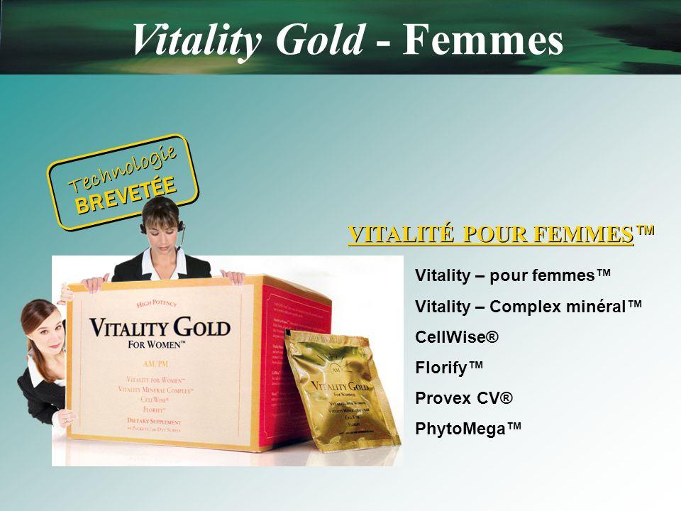 Vitality Gold - Femmes Technologie BREVETÉE VITALITÉ POUR FEMMES™