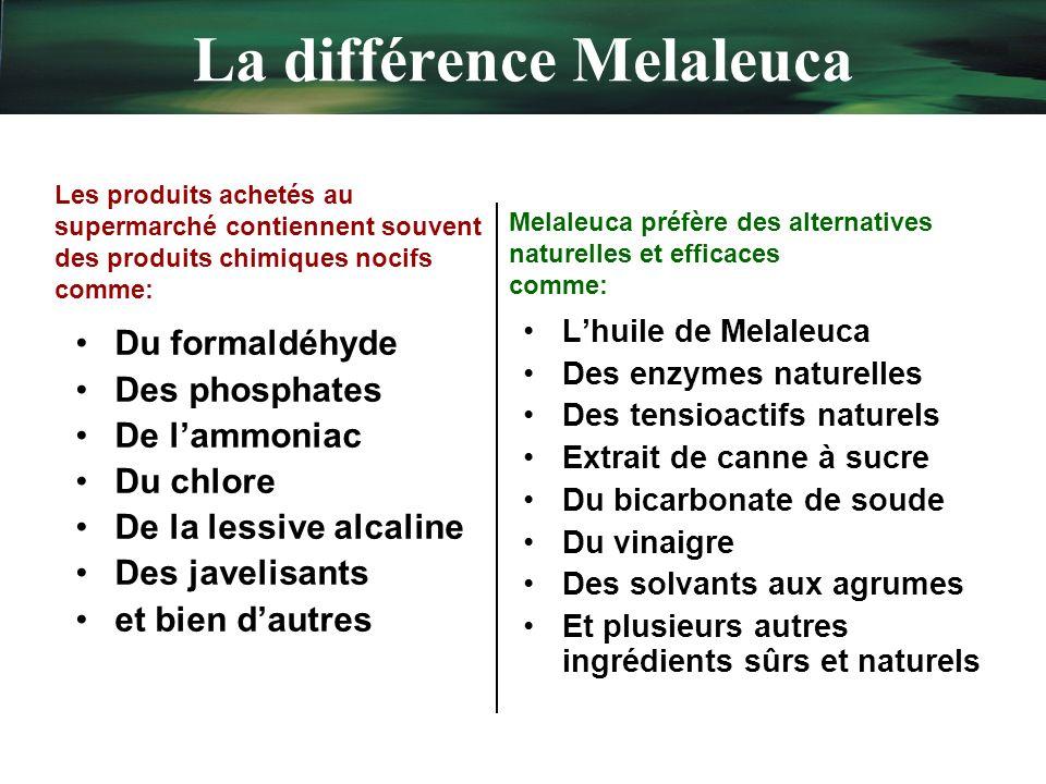 La différence Melaleuca
