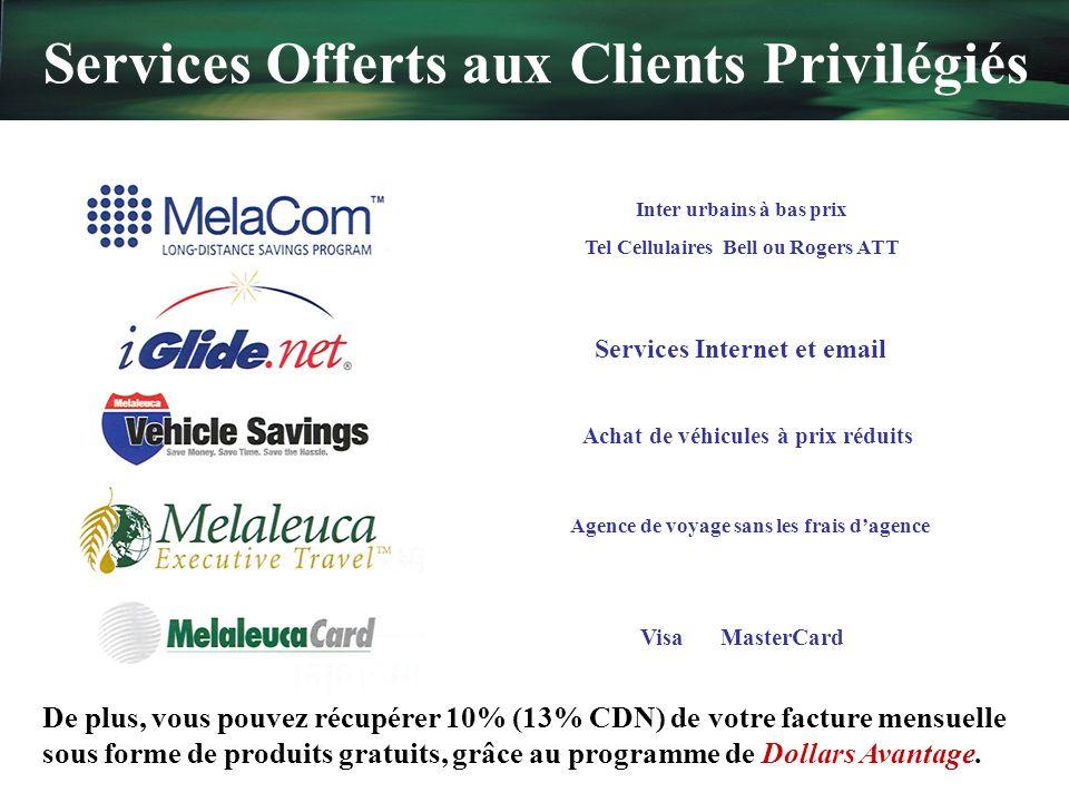 Services Offerts aux Clients Privilégiés