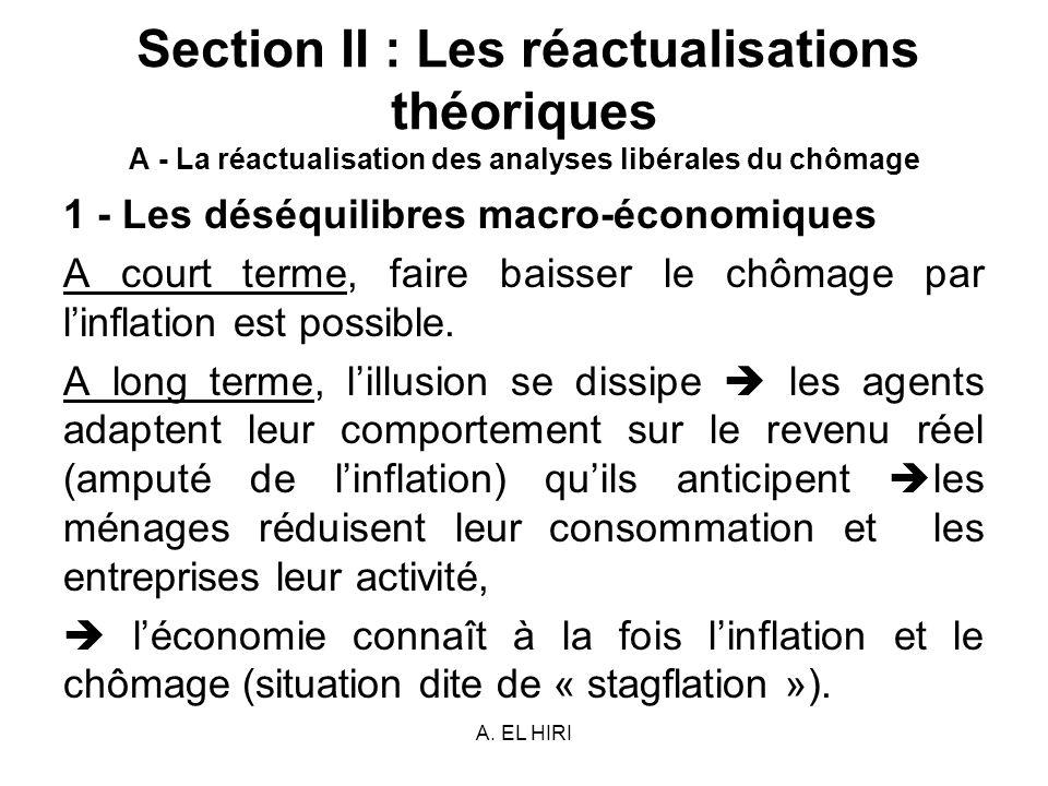 1 - Les déséquilibres macro-économiques