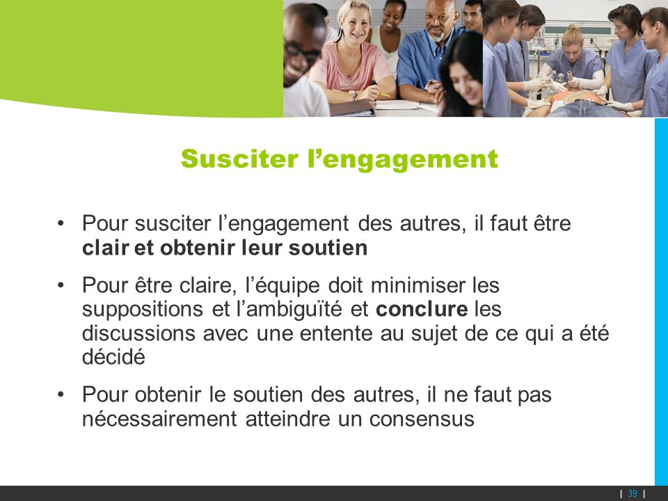 Susciter l'engagement
