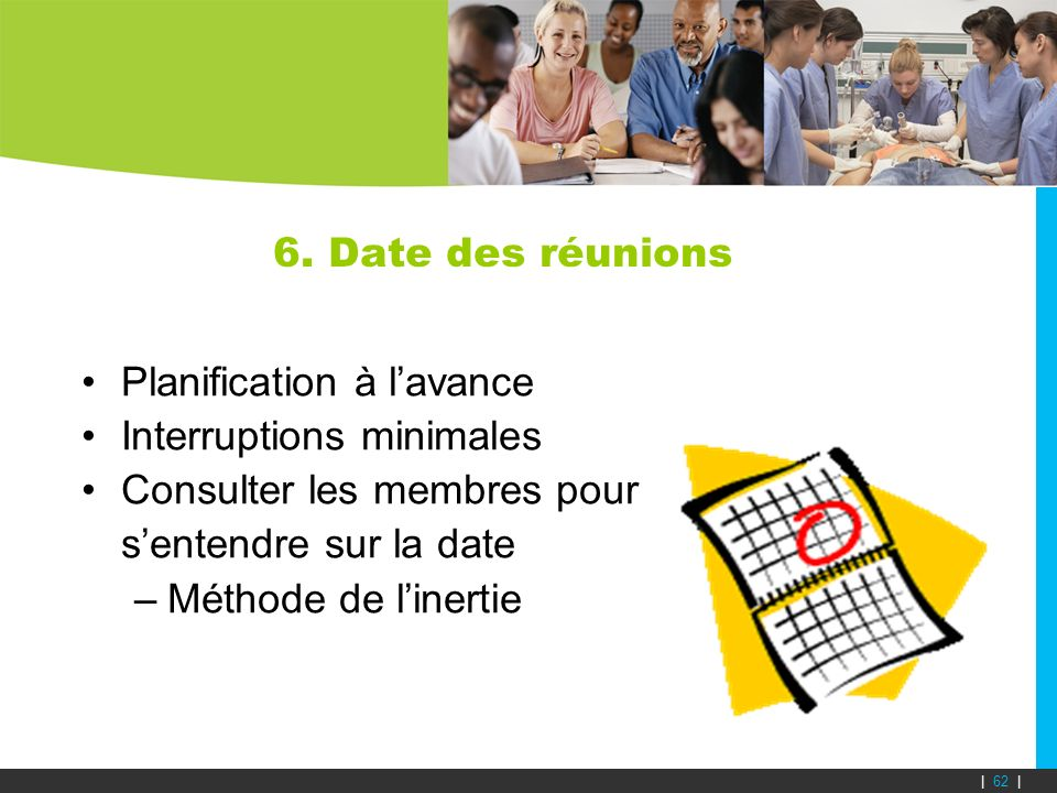Planification à l'avance Interruptions minimales