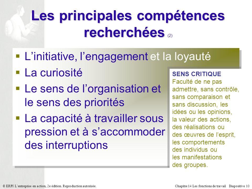 Les principales compétences recherchées (2)
