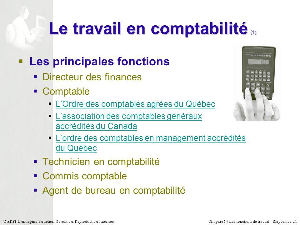 Le travail en comptabilité (1)